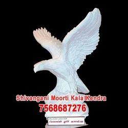 White Marble Eagle Statue