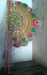 Celebrations Multi Wooden Paper Machie Pankhi / Paper Machie / Wall Decor