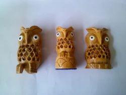 Sandalwood Owl Sculpture