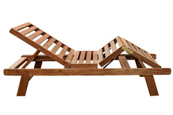 Wood Swimming Pool Lounger