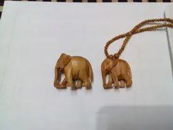Sandalwood Elephant Pendants