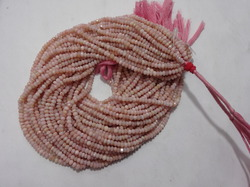 Pink Opal Faceted Beads