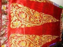Raw Silk Embroidery Wrapper