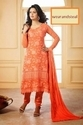 Orange Georgette Karachi work suit