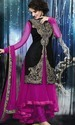 Pink And Black Designer Long Suit