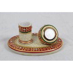 Mahesh Handicraft White,Red Pen Stands, For Home