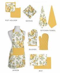 100% Cotton Print Kitchen Linen Set