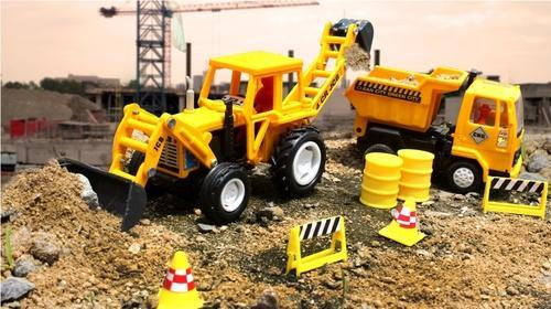 Pull Back Yellow Color Jcb Construction Truck Toy Centy Toys New