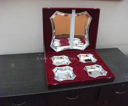 Silver Plated Tray Set