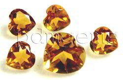 Citrine Faceted Heart Gemstone