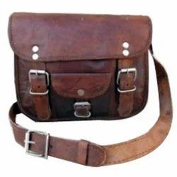 Double Buckle Curve Messenger Bag
