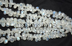 Rainbow Moonstone Faceted Pear Briolette Beads Gemstone