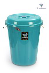 Black And Red Plastics Colored Plastic Drum, For Chemical Storage And Edible Storage