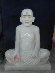 Superfine Marble Gajanan Maharaj Statue, Size: 15 inch
