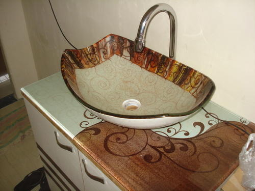Designer Glass Wash Basin | Shree Rangkala Glass Design ...