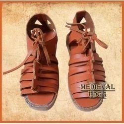Men Casual Roman Sandals Caligae Tan And Black Color