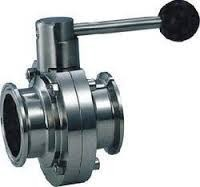 SS Dairy TC End Butterfly Valve