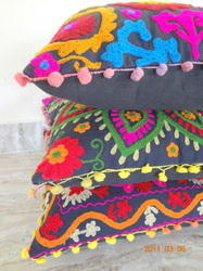 Embroiderer Indian Pillow Cover Multi Colored