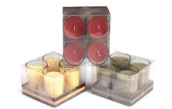 Round Glass Spa Candle Set