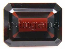 Garnet Faceted Octagon Gemstone