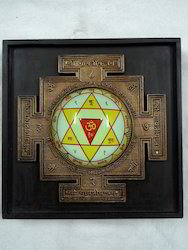 Wooden Frame Durga Yantra