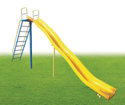 Plastic Wave Slide Playground Equipment