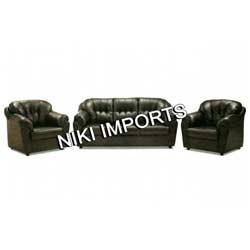 Flaura Sofa Set - Rexine