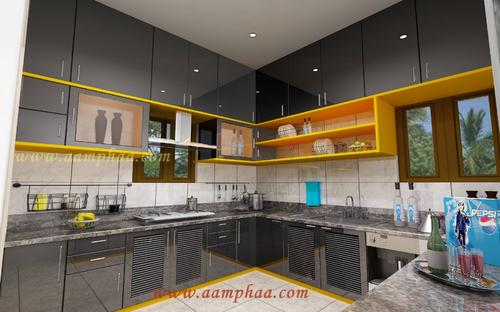 Kitchen Design Colours high gloss kitchen designs colours in arumbakkam, chennai, aamphaa