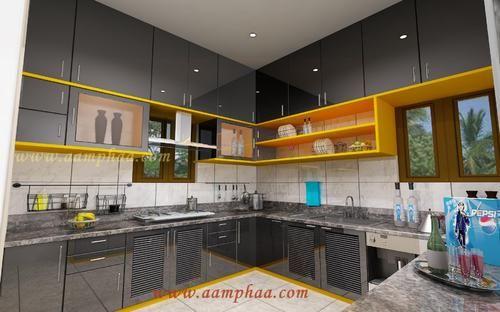High Gloss Kitchen Designs Colours In Arumbakkam Chennai Aamphaa