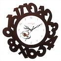 Eco Number Brown Wall Clock