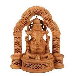 Brown Wooden Ganesha