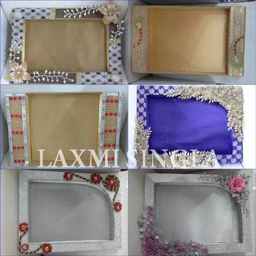 Indian Wedding Gifts Packing Ideas: Designer Wedding RIng Ceremony Trays