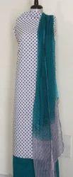 Hand Block Printed Chiffon Dupatta Suit Sets