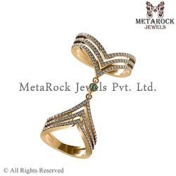 Party Wear Knuckle Gold Ring