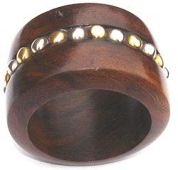 Brown Wooden Napkin Ring
