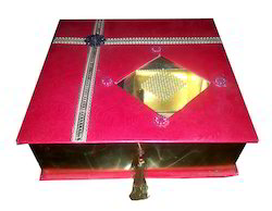 Metallic Print Laddu Box