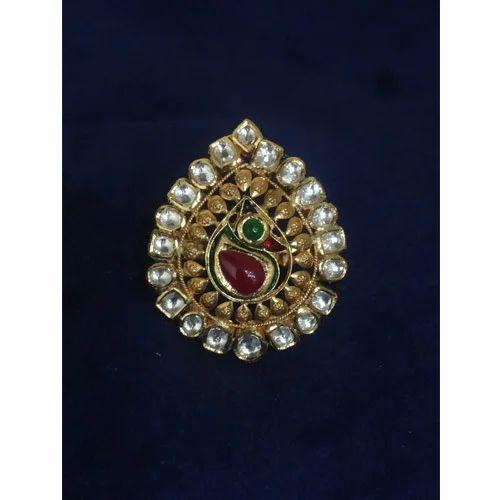 Stylish Gold Kundan Ring Costume & Fashion Jewelry