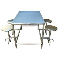 4 Seater SS Canteen Tables