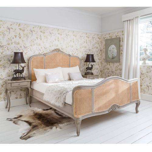 Bedroom Beds - Antique Gold French Rococo King Bed ...