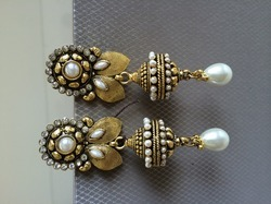 Long Moti Earrings
