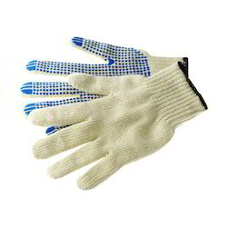 Dotted Knitted Hand Gloves
