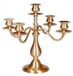 Brass Antique On Polished Aluminum Candelabra