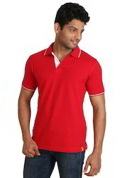 Snazzy Red Polo Neck T- Shirts