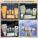 Stone Bath Set Accessories