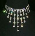 Diamond Necklace Set, Packaging Type: Box