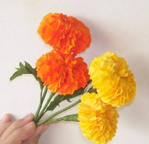 Mango craft pune service provider of tulip and rose paper made marigold art classes mightylinksfo Images