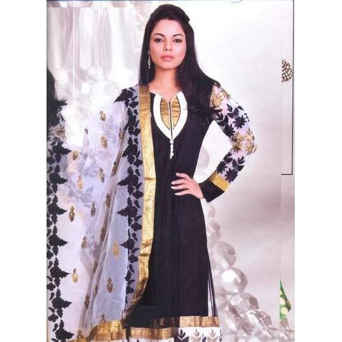 Georgette Ladies Cotton Suit | Shree Balaji Textiles ...