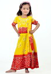 Kids Red and Yellow Lehenga Choli
