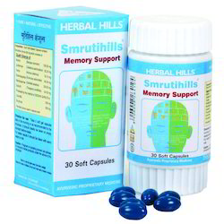 Smrutihills - Brain Health Supplement Herbal Formulation - 30 Soft Capsules