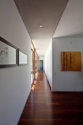 College Corridor Wooden Flooring
